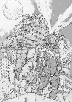 Commission Sabretooth and Swiftclaw