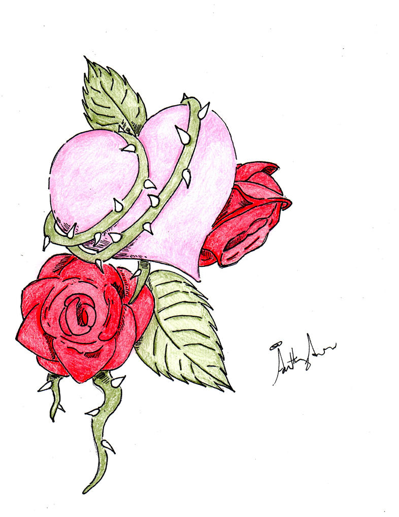 Rose And Heart Tattoo V1 By Gamerfreakwitha360 How To Draw