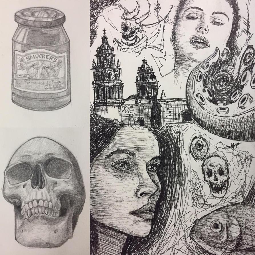 pencil practice and sketches by alanloredosilva
