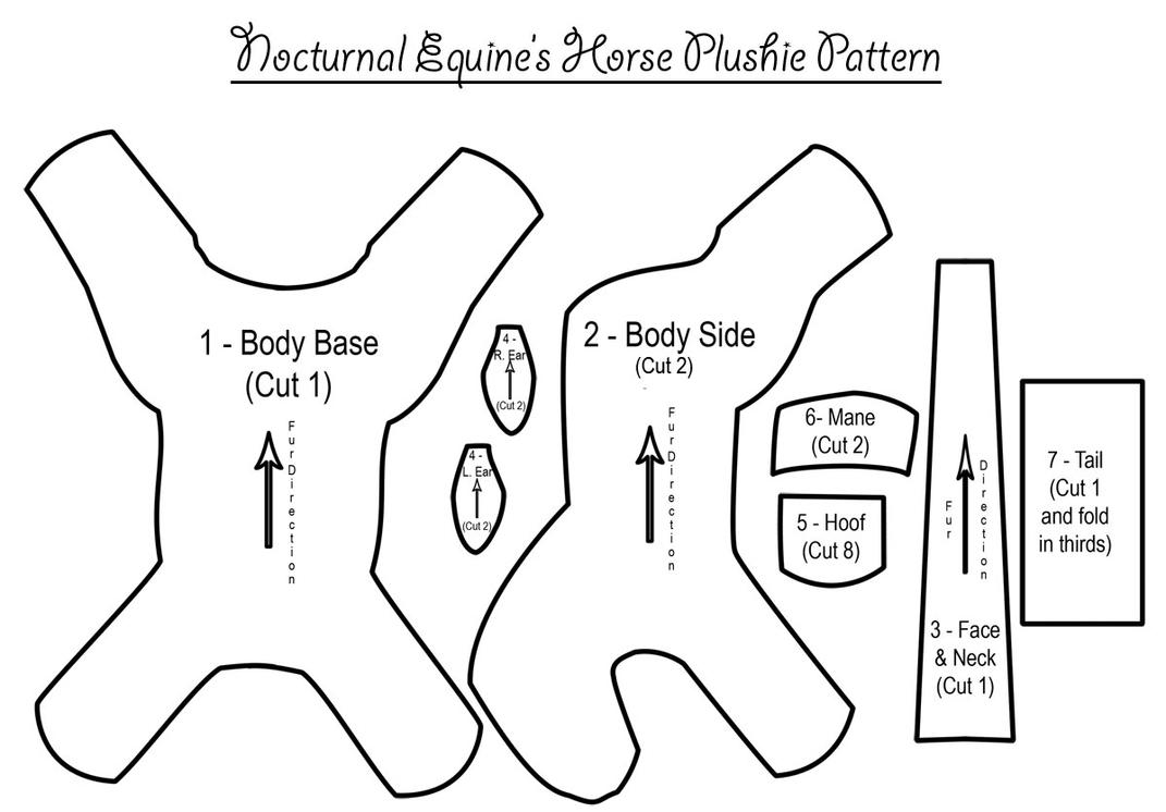 Horse Plushie Pattern by NocturnalEquine