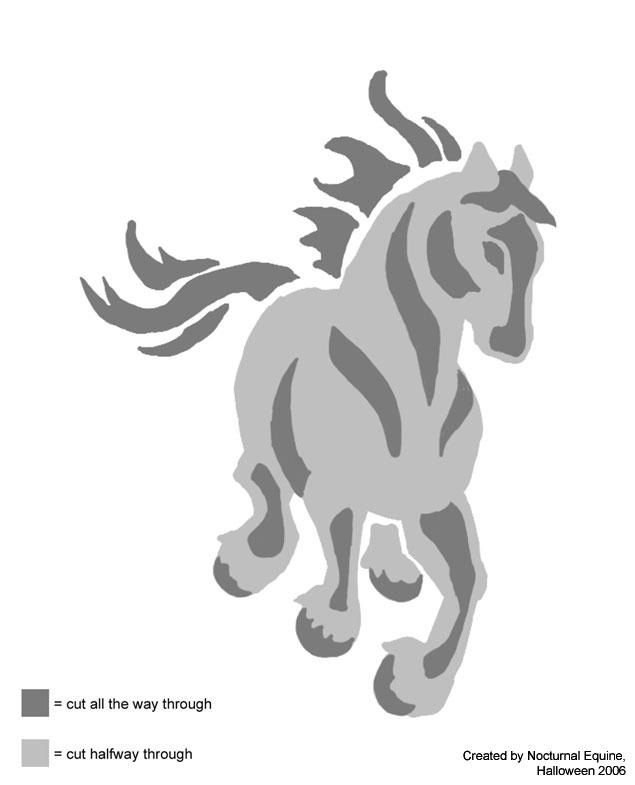 Halloween horse pattern by nocturnalequine on deviantart