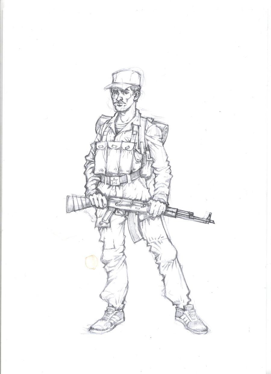 Soviet soldier by landser83