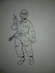 Soviet paratrooper by landser83