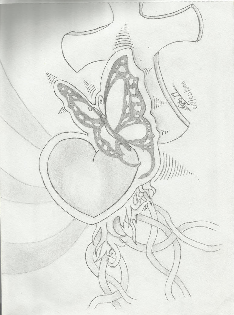 Butterfly heart by Stephs77 on DeviantArt