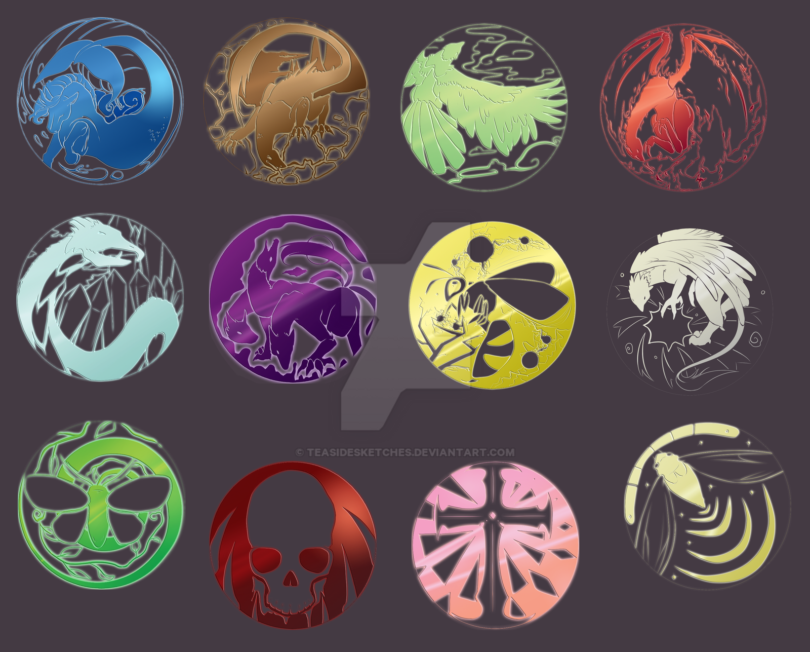 All Elements Of Art : Element symbol reference sheet by teasidesketches on