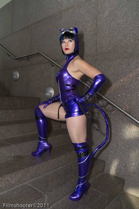 Catwoman on Stairs by HollyGloha