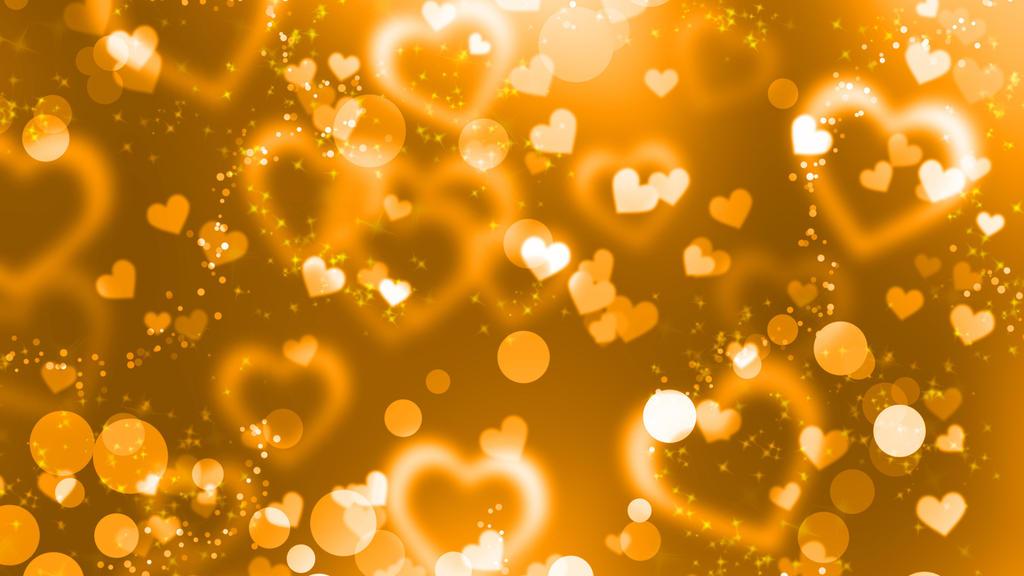 Gold Hearts by HollyGloha
