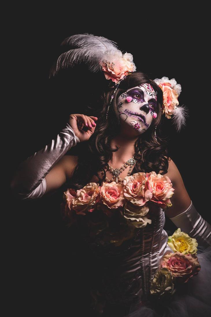Dia De Los Muertos Sugar Skull by HollyGloha