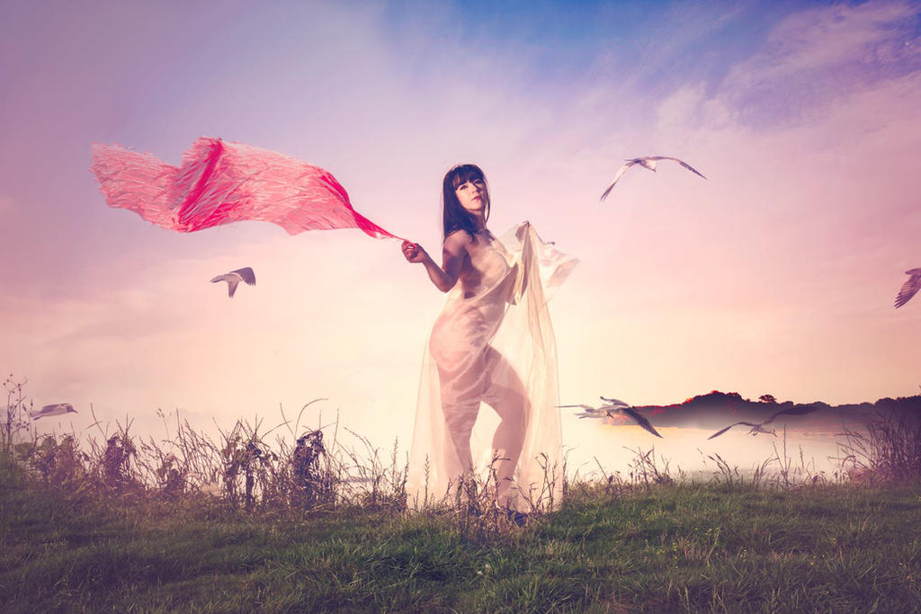 Chiffon and Seaside by HollyGloha