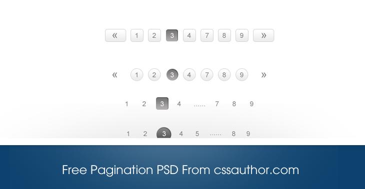 Free Stylish Pagination PSD Download