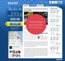 Premium Beautiful Deals Website PSD Template by cssauthor