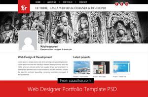 Web Designer Portfolio Template PSD by cssauthor