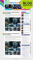 Premium Magazine Blog Template Home Page PSD by cssauthor