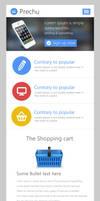 Minimal Responsive Website Template PSD