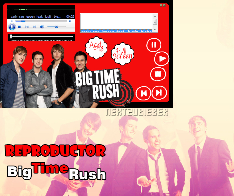 Reproductor de musica ejecutable: Big Time Rush by Cursorsandmore