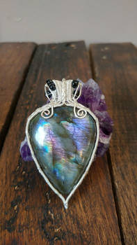 Galaxy star  - Wire wrapped labradorite pendant