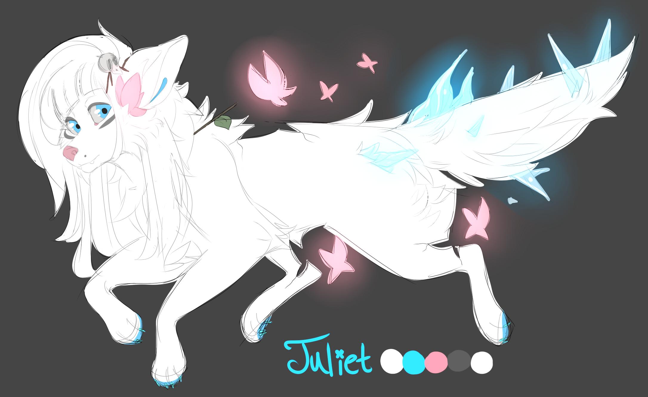 Juliet Wolf Redesign by Rain-ette