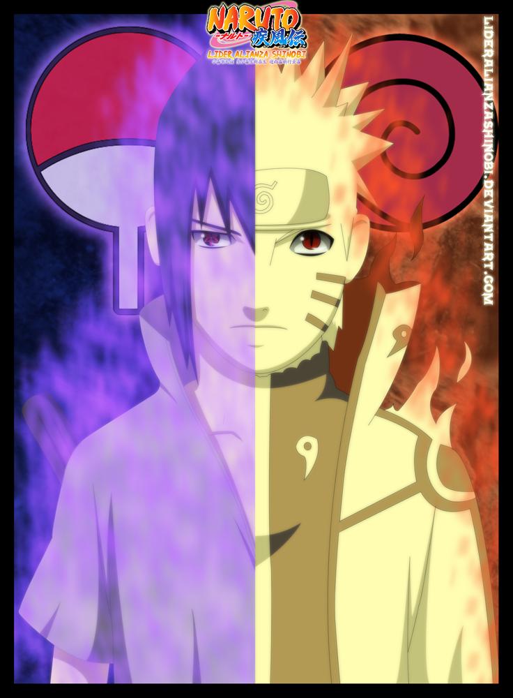 Sasuke Uchiha and Naruto Uzumaki by LiderAlianzaShinobi on ...