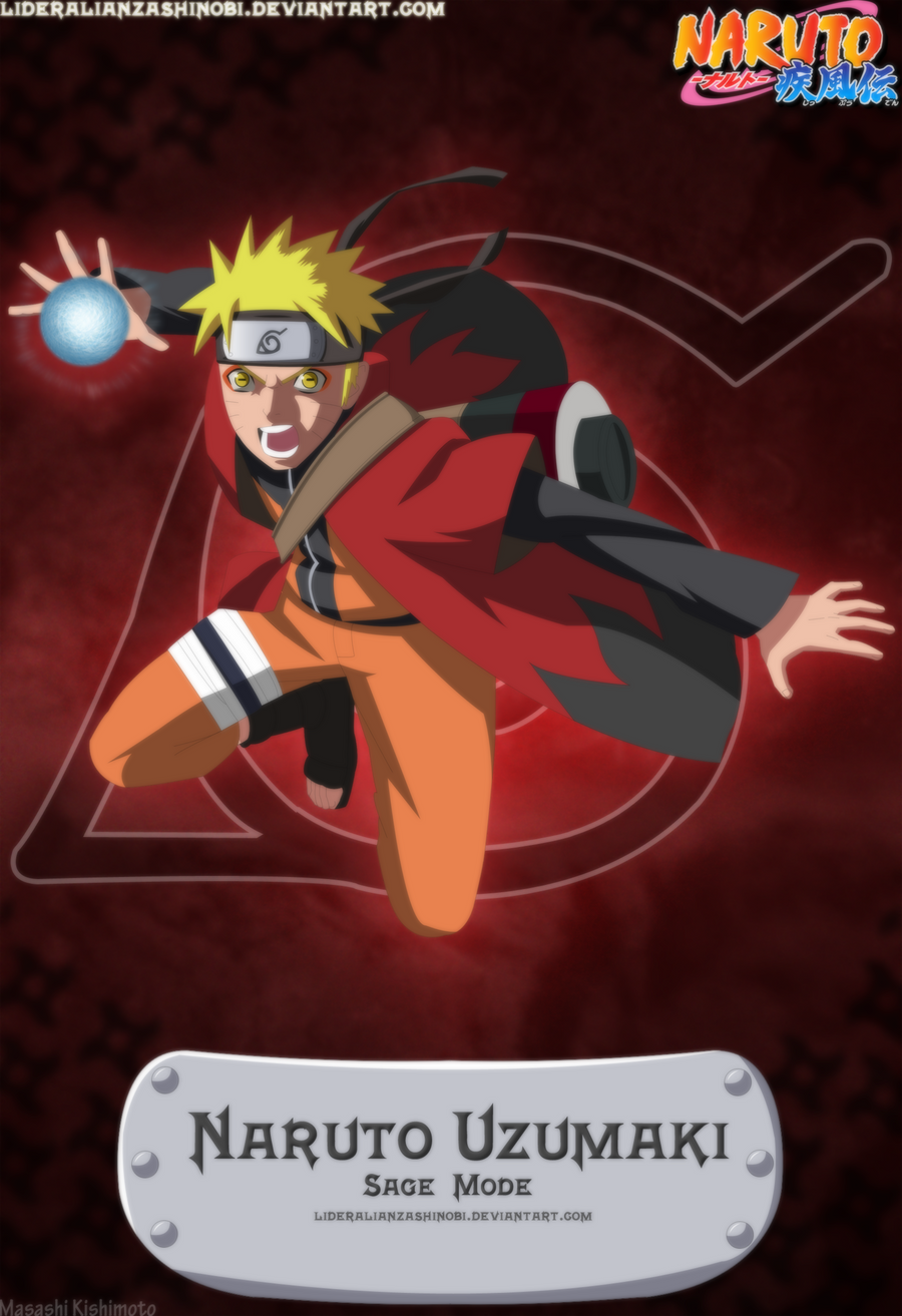 Naruto Uzumaki Sage Mode by LiderAlianzaShinobi