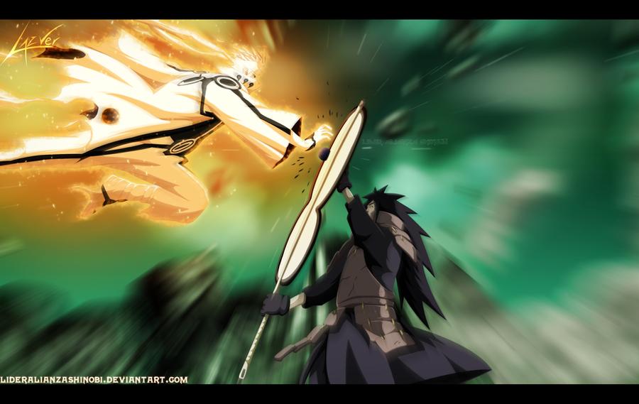 Naruto 601: Naruto Modo Bijuu vs Madara by LiderAlianzaShinobi