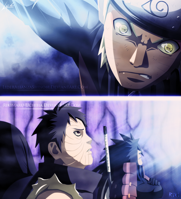 Collab: Naruto 612 - Naruto vs Obito and Madara by LiderAlianzaShinobi
