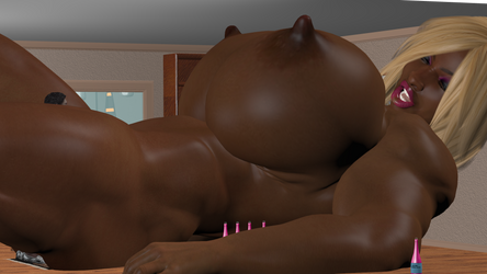DGN-office fun Aina huge muscular by DragoonGTS