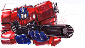 Optimus Prime by SketcheeBizniz