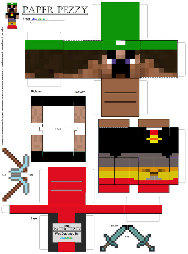 Minecraft D Craft Printable Pages