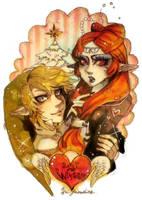 Link and princess Midna by Sui-yumeshima