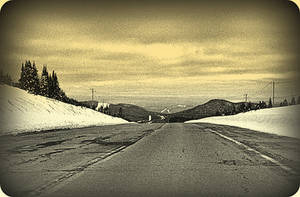 Gloomy Road In April by surrealistic-gloom