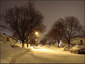 Street at Dawn by surrealistic-gloom