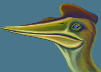 Quetzalcoatlus Face by squeakychewtoy
