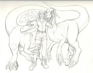 Sketch - Mother of Raptors by squeakychewtoy