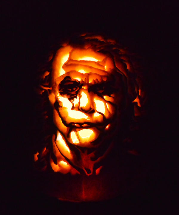 Joker Pumpkin by SteamboatLyssie