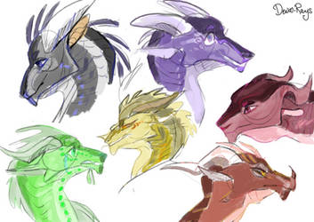 Wings of Fire characters by Deva-rays on DeviantArt