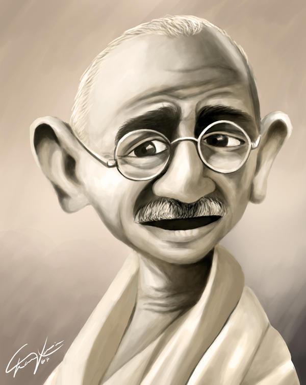 Mahatma Gandhi Caricature by felipexavier
