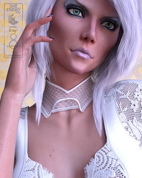 Lace Chokers for Genesis 8 and 8.1 Female