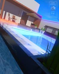 Private Modern Pool Terrace
