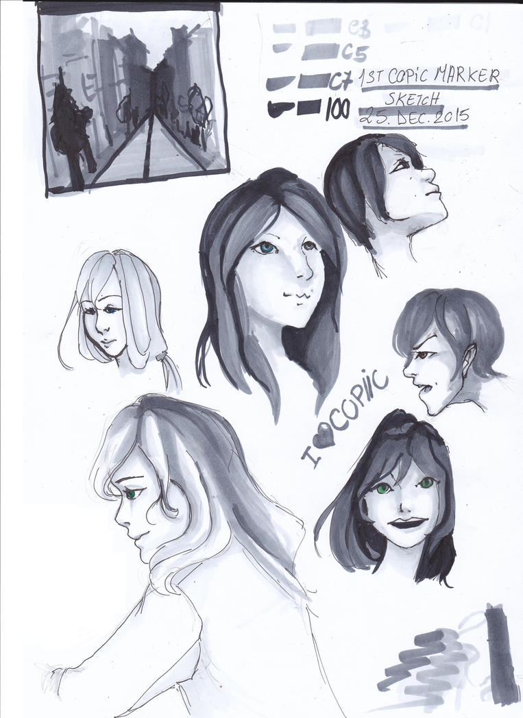 1st copic sketches by ZollaUchiha