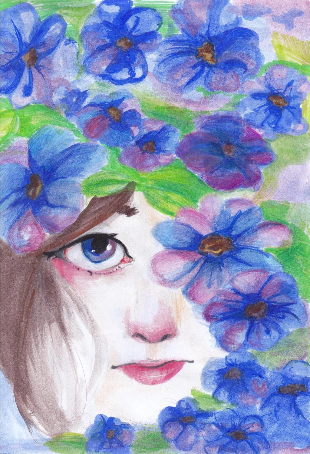 Blue Daisys by ZollaUchiha