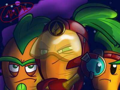 PvZ Heroes-The Plant Guards(digital art) by CrystiliaLance
