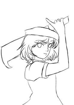 Ryuguu Rena Sketch WIP (Higurashi no Naku Koro ni)