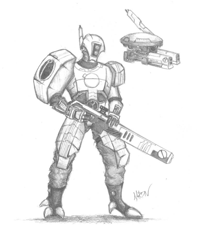 Tau Fire Warrior by CodenameOXIDE