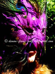 Mask of Purple Feathers by demon-flame-wolf