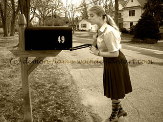 At The Mailbox by demon-flame-wolf