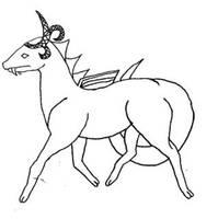 Prancing Dragon Female Sketch