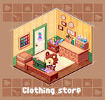 AnimalCrossing/clothing store by chansui