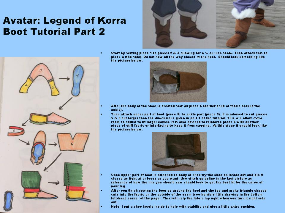 Avatar: Legend of Korra Boot Tutorial (pt. 2) by ScissorWizardCosplay