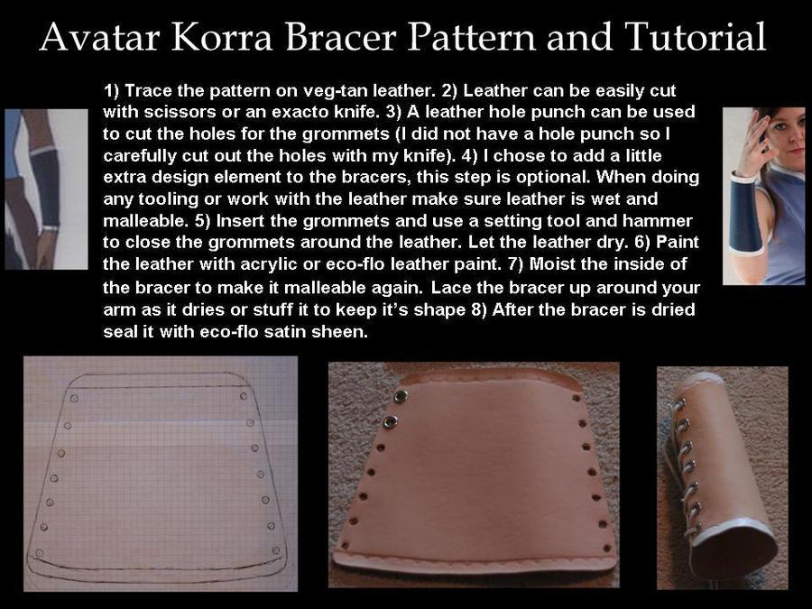 Avatar Korra Bracer Pattern and Tutorial by ScissorWizardCosplay