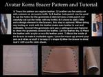 Avatar Korra Bracer Pattern and Tutorial